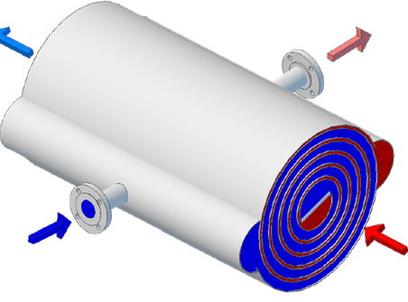 Elanco Spiral Heat Exchanger Outline Drawing
